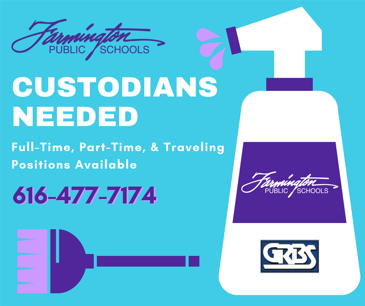 Custodians Needed