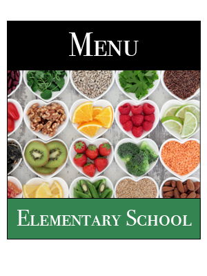 Elementary School Lunch Menu