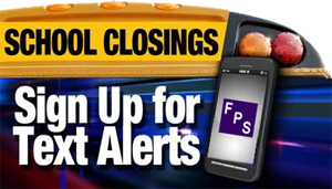 School Closing Text Graphic
